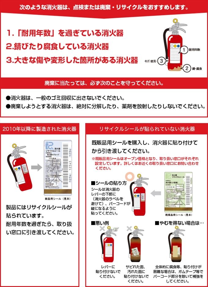 消防・防災商品の販売/消火器等の廃棄